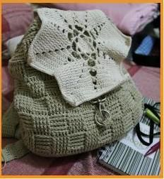 Crochet: backpack. candelline's project
