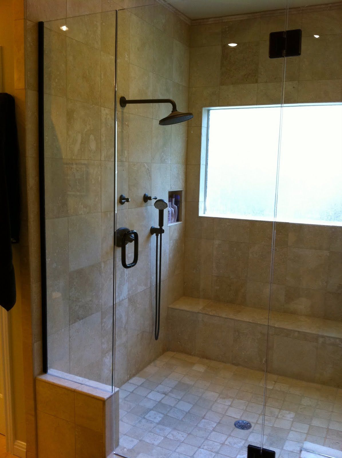Master Bathroom Remodel with Double Shower | Double shower, Master ...