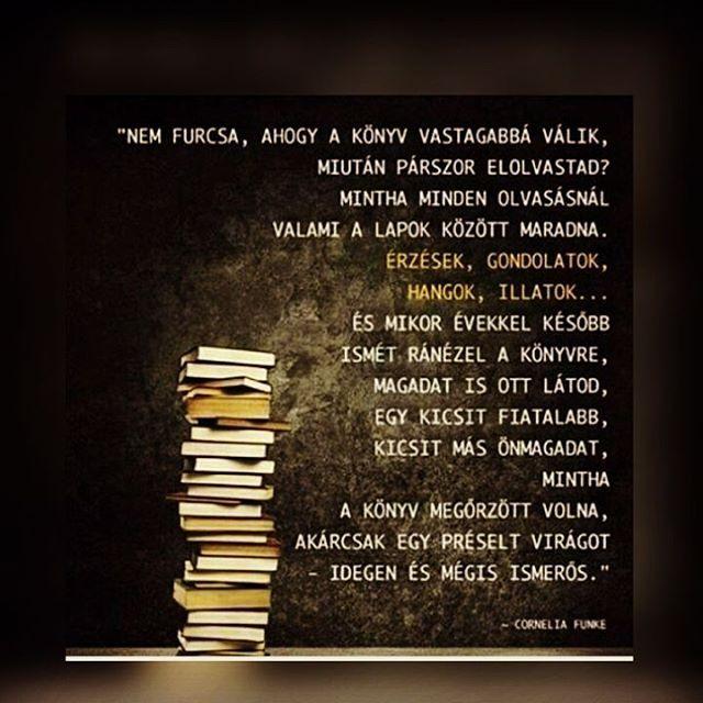 """56 Likes, 1 Comments - #SZERETÜNKOLVASNI (@hungarian_bookworm) on Instagram: """"Ez így van! @bookshelf_36 képe. #follow4follow #reading #like4like #idézet #imádom #emlék…"""""""