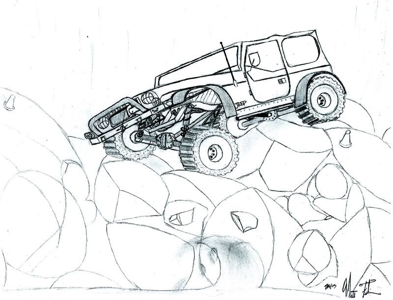 wonderful wrangler off roading great for the jeep coloring book