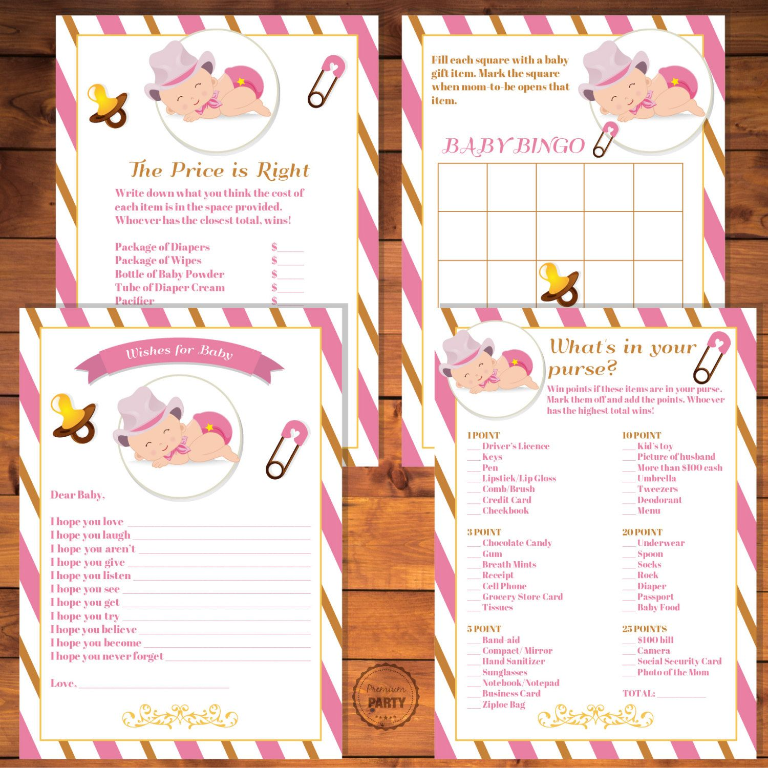 Cowgirl Baby Shower Wishes For Baby The Price Is Right Baby