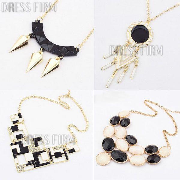 #CheapNecklace #Low Off the $10 #Black #Eleagnt #Necklace #dressvenus.