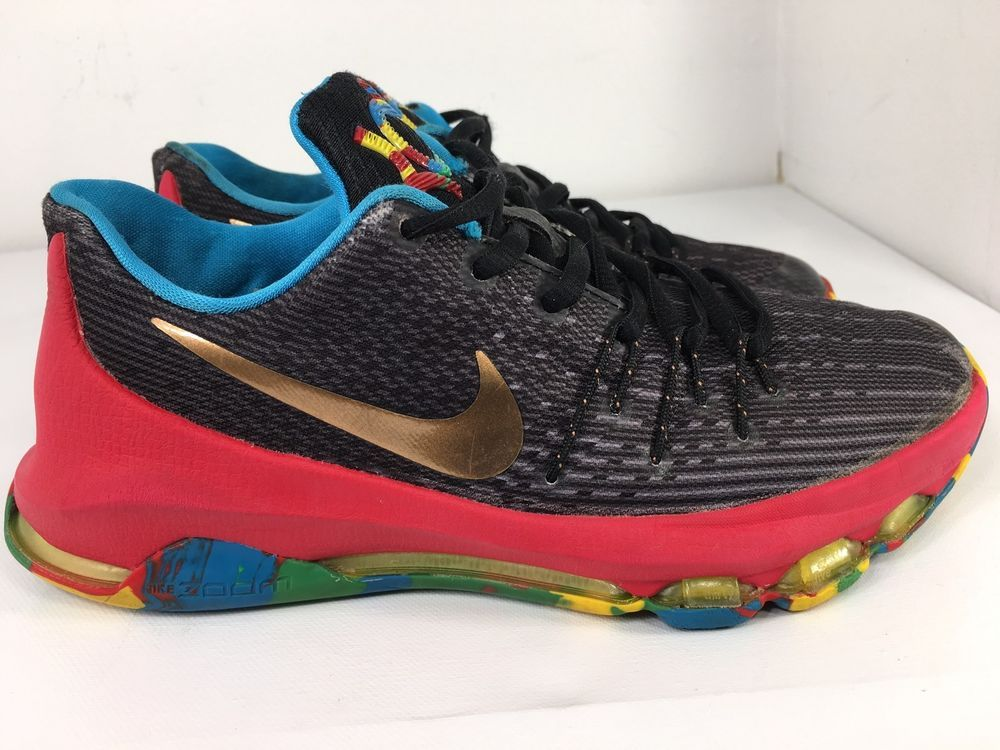 new concept f8aab ba29c Nike KD 8 GS Youth Size 4.5Y Shoes Big Kids Black 768867-002 Money Ball    eBay