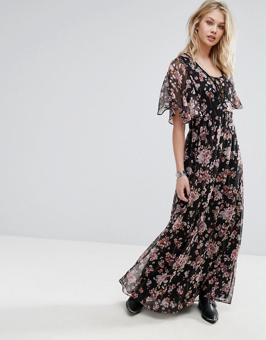 Buy it now mango floral print maxi dress black maxi dress by