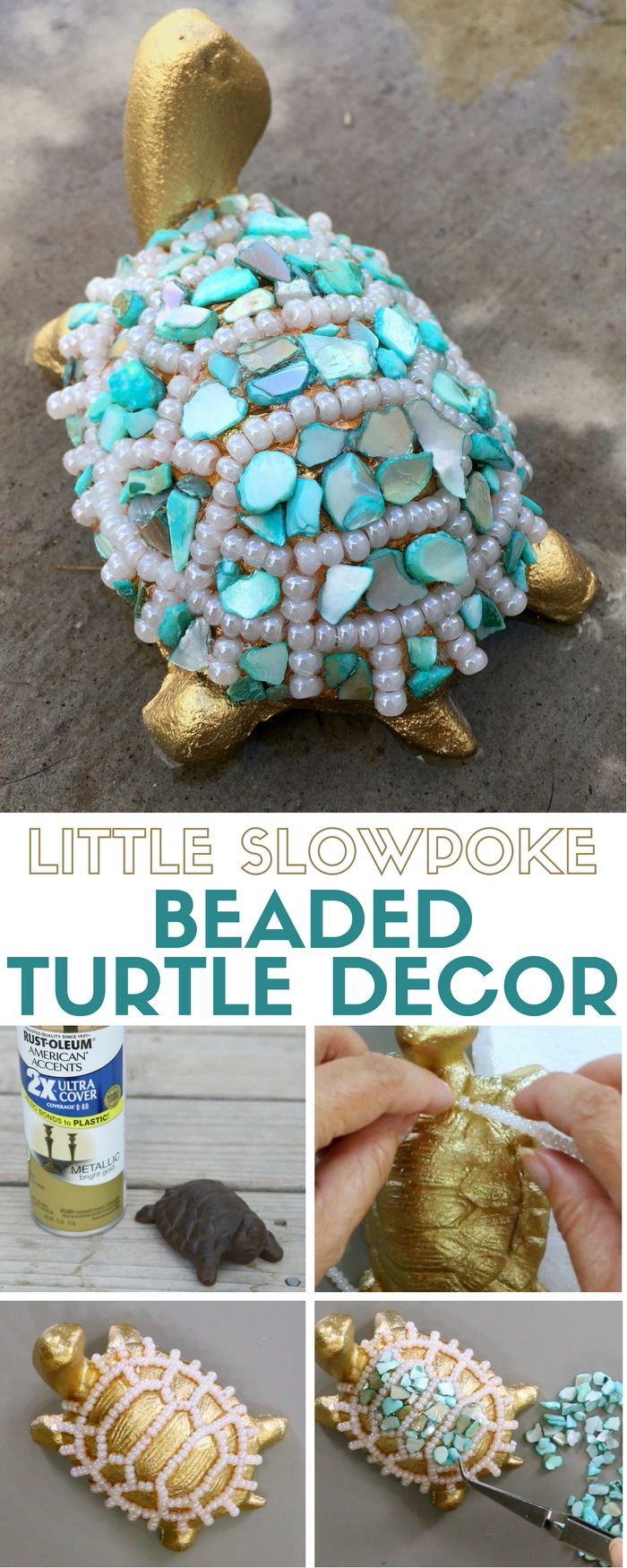 A Diffe Look To The Slowpoke Turtle Decor Craft Kit By Apostrophe S An Easy Diy Tutorial Idea That Makes Great Handmade Gift Or Home