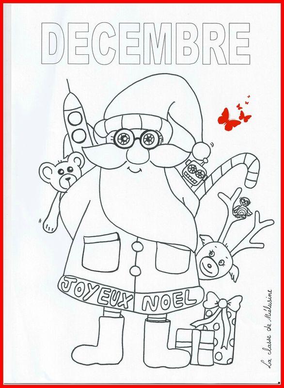 Coloriage Fevrier Melusine.Encore Un Petit Coloriage De Decembre La Classe De