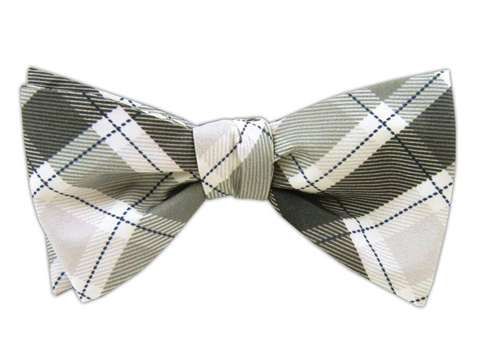 People's Plaid BulletCharcoalSilver (DWade Bow Ties