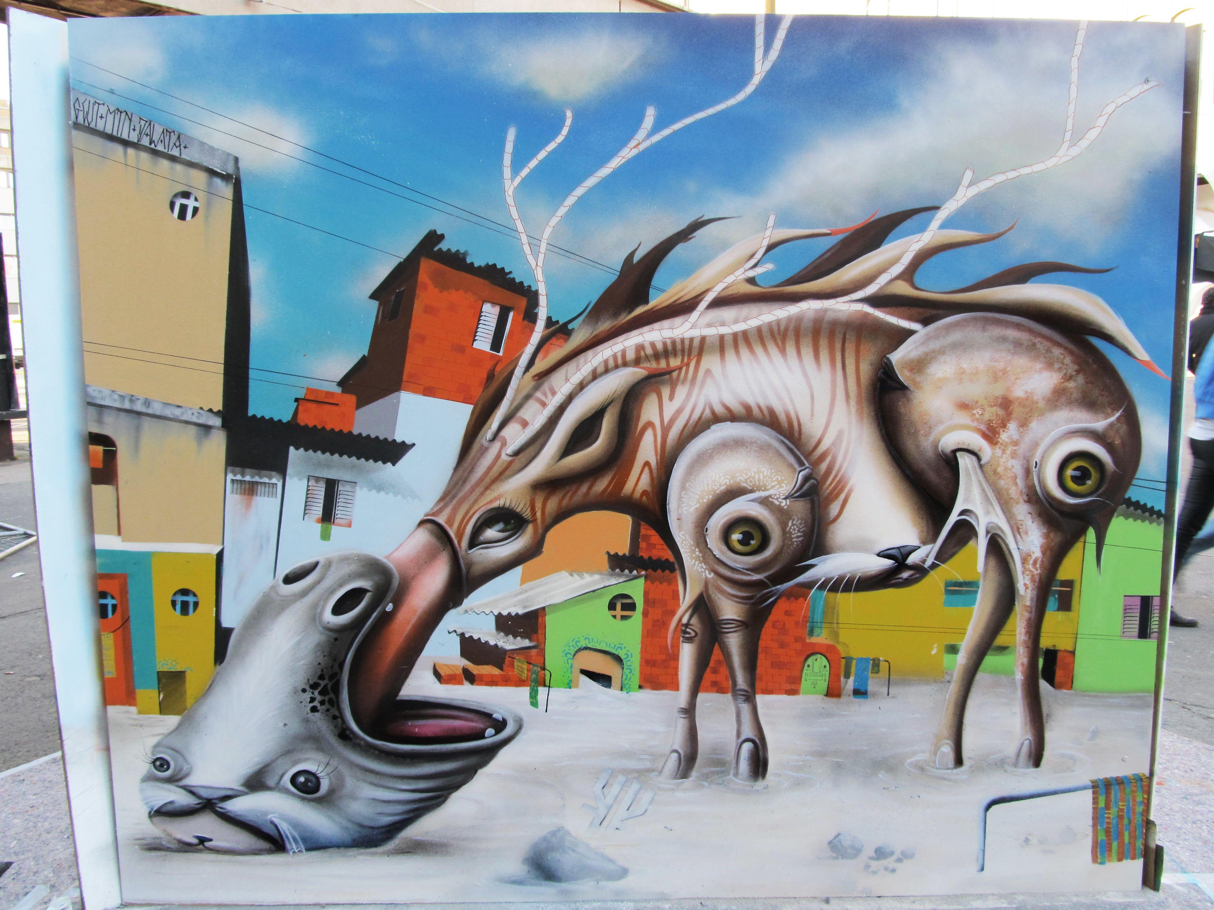 Pintura feita por Andre Gonzaga Dalata no evento Stroke Art Fair, na Alemanha, em 2011.