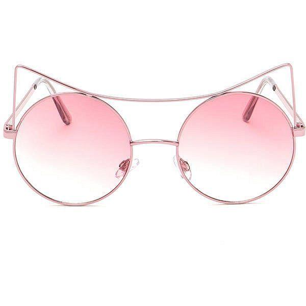 Mode Trend Gläser Trend Retro Sonnenbrille , Rosa / Gold