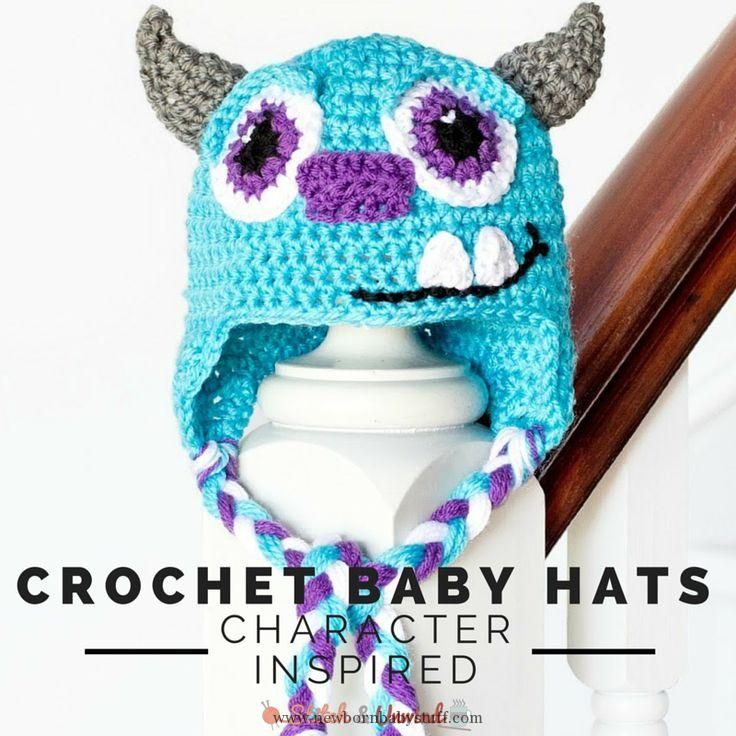 Crochet Baby Hats 13 Character-Inspired Crochet Baby Hat Patterns ...