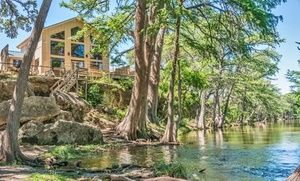 Stay At River Bluff Cabins In Leakey Tx With Dates Into April Stay The Night Frio River Texas River Cabin