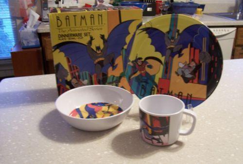 Batman The Animated Series Dinnerware Set Plate Cup Bowl NIB Zak Designs & Batman The Animated Series Dinnerware Set Plate Cup Bowl NIB Zak ...