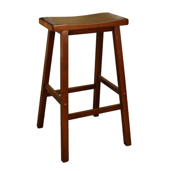 Wood Saddle Walnut Saddle Seat Bar Stool Counter Height Stools Saddle Stools