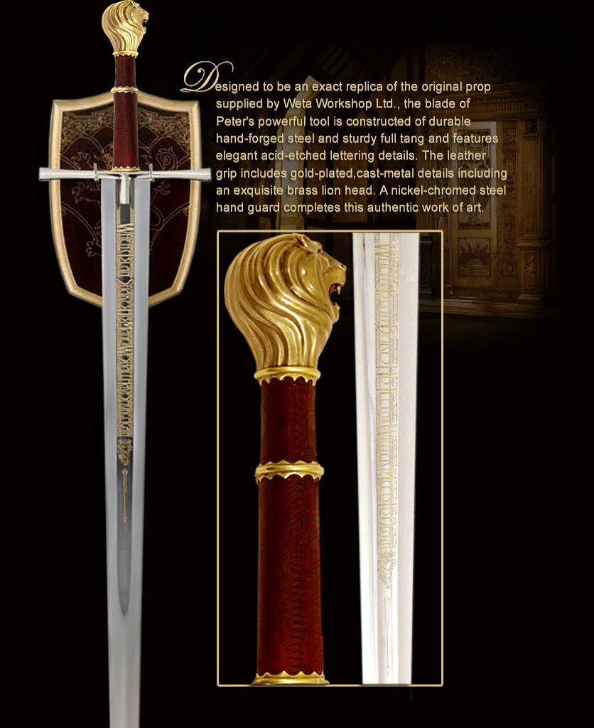 Peter S Sword Prop From The Chronicles Of Narnia Nursery