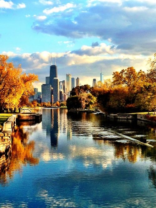The Beautiful Fall Day in Chicago