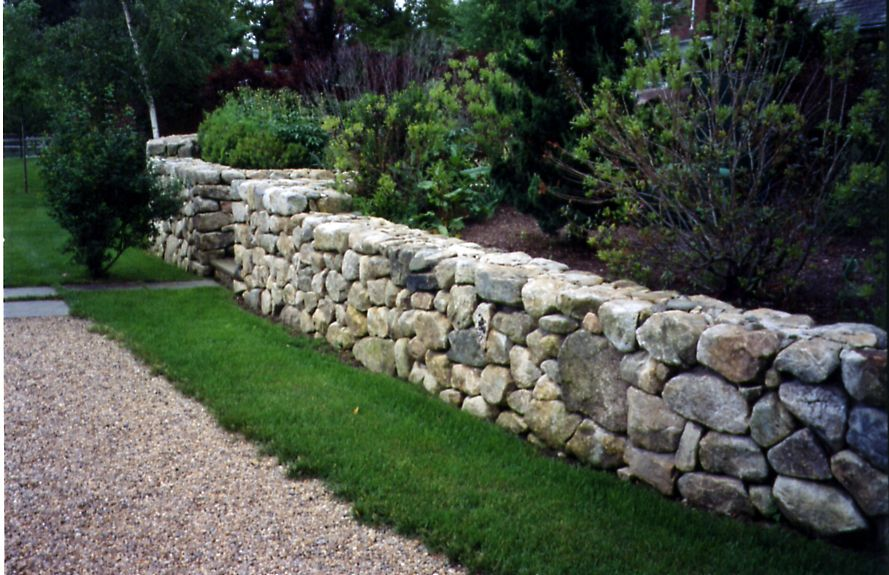 New England Stonescapes Stone Landscaping Field Stone Wall Landscaping With Rocks