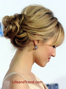 Dianna Agron Bun Hairstyles 2012 Homecoming Hairstyles For Long Hair 2012 Short Hair Updo Hair Styles Hair Lengths