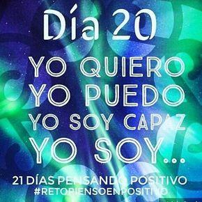 #retopiensopositivo #sisepuede
