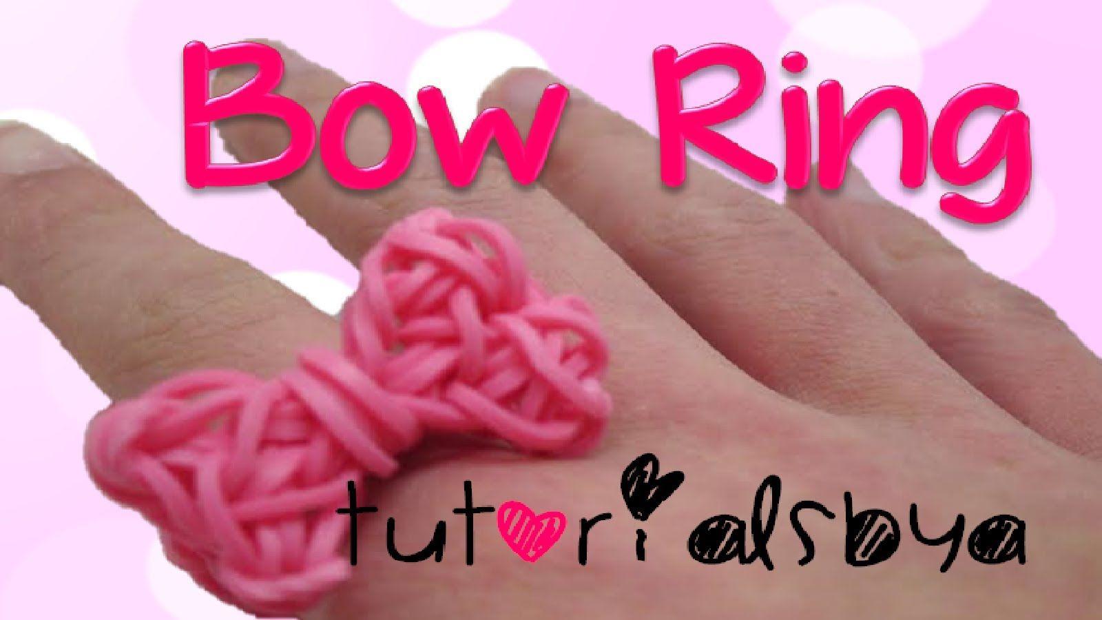 NEW Bow Ring Rainbow Loom Tutorial- Original Design by Tutorials by A