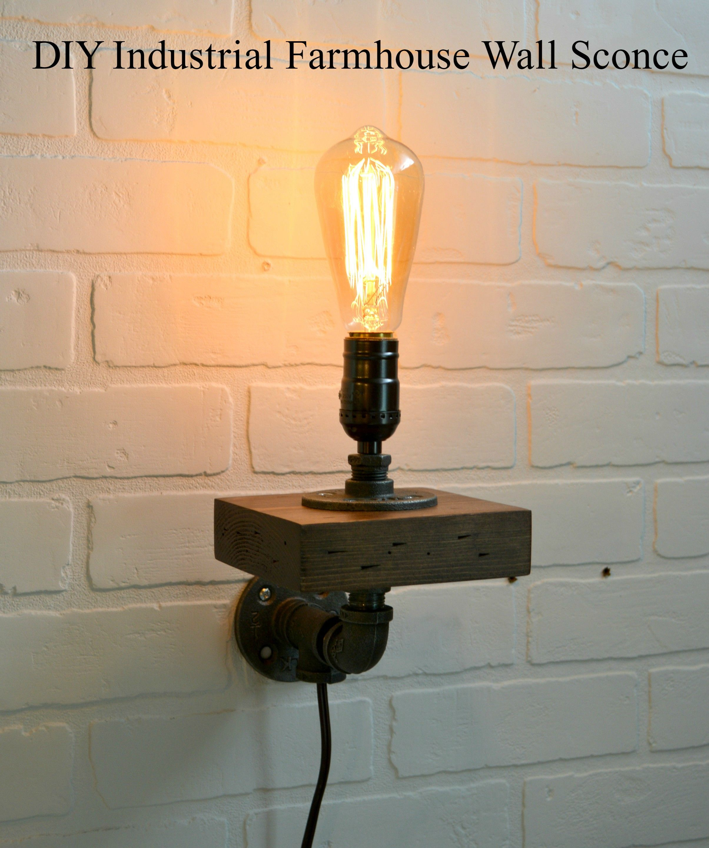 How to Make a Small Industrial Farmhouse Wall Sconce ...