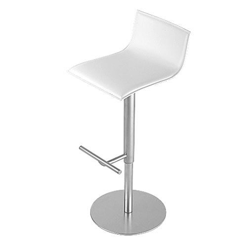 THIN - TABOURET REGLABLE CUIR BLANC de LA PALMA Bar, La palma and