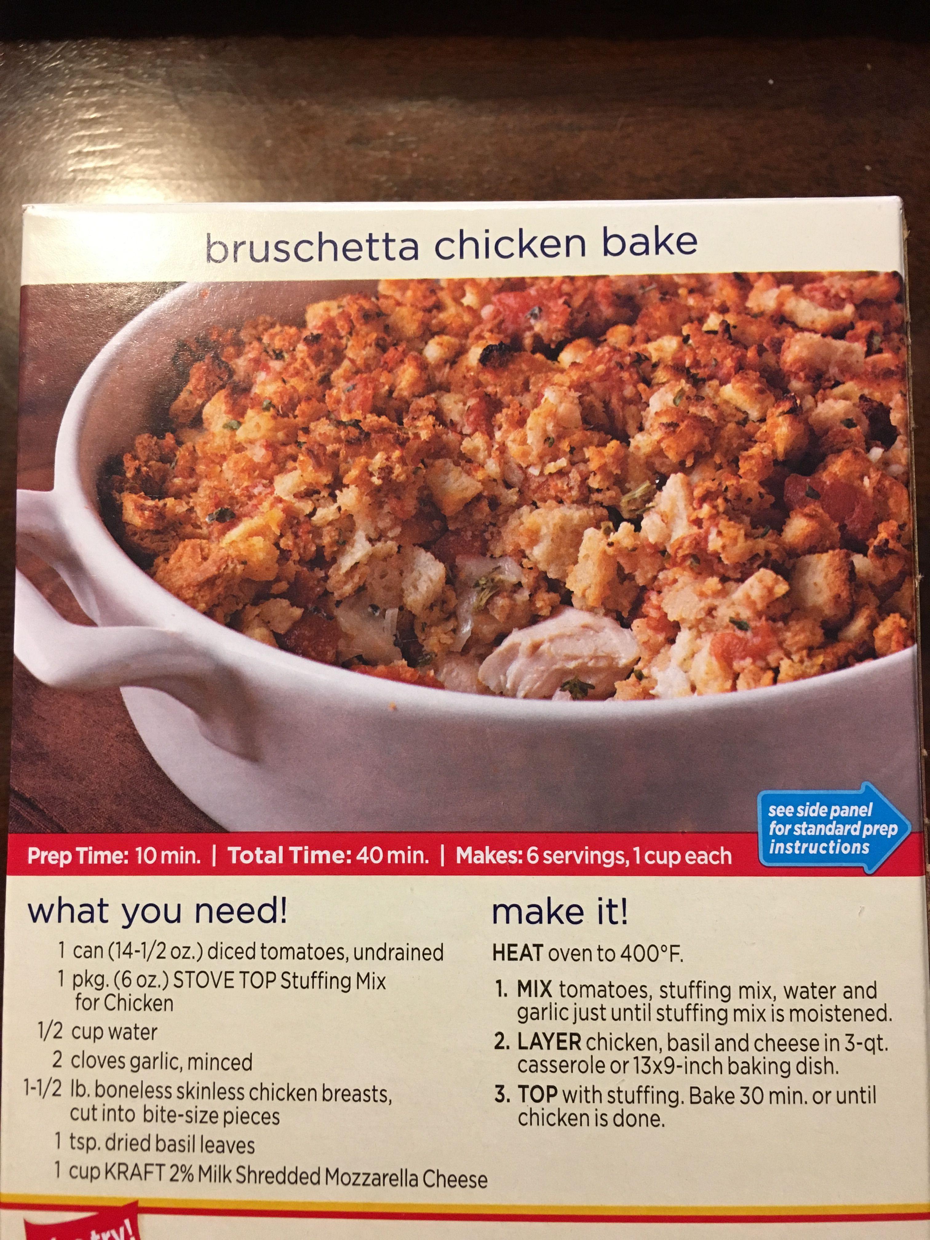 Bruschetta Chicken Bake With Stove Top Chicken Bruschetta Bake Stuffing Recipes Stovetop Stuffing Chicken