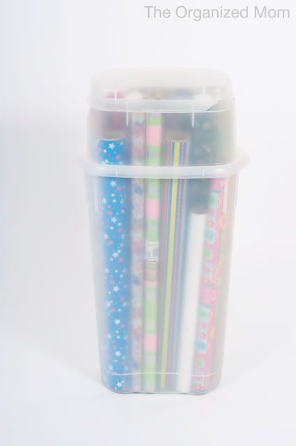 Organizing Wrapping Paper How to Organize your Home Family and
