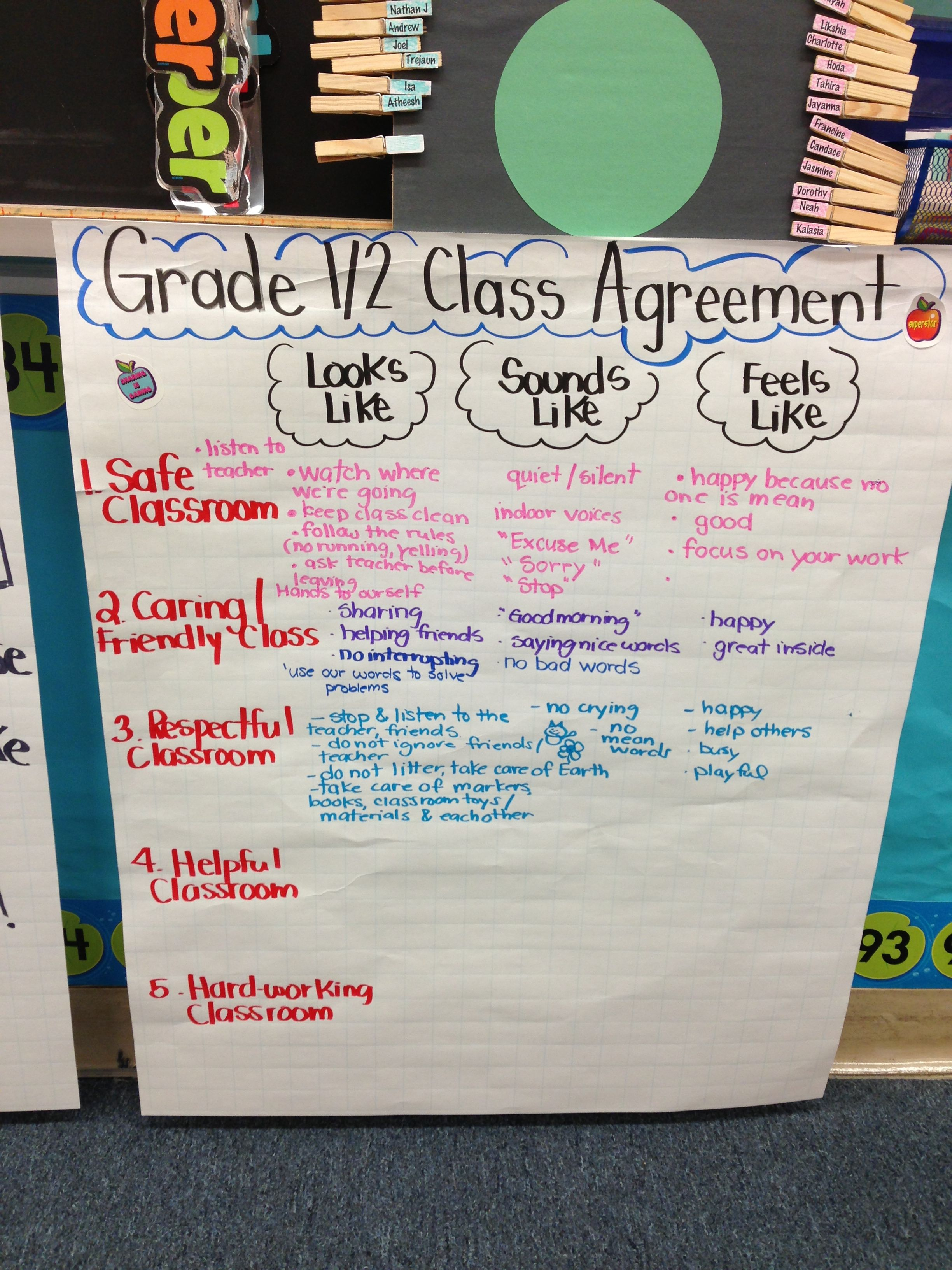 Classroom Agreement Teaching Ideas Pinterest Classroom