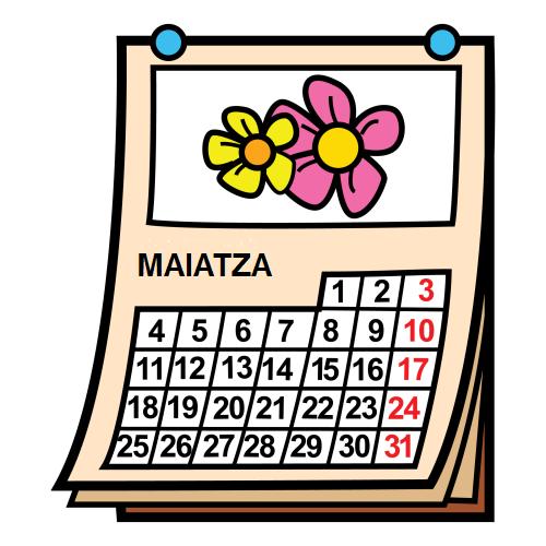 Maiatza (con imágenes) | Diario de trabajo, Educacion, Vascos