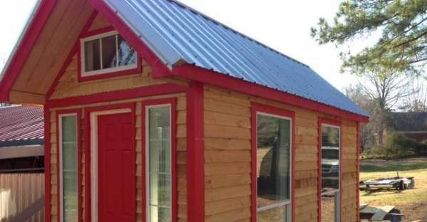 Gorgeous Red Tiny Home for Cheap