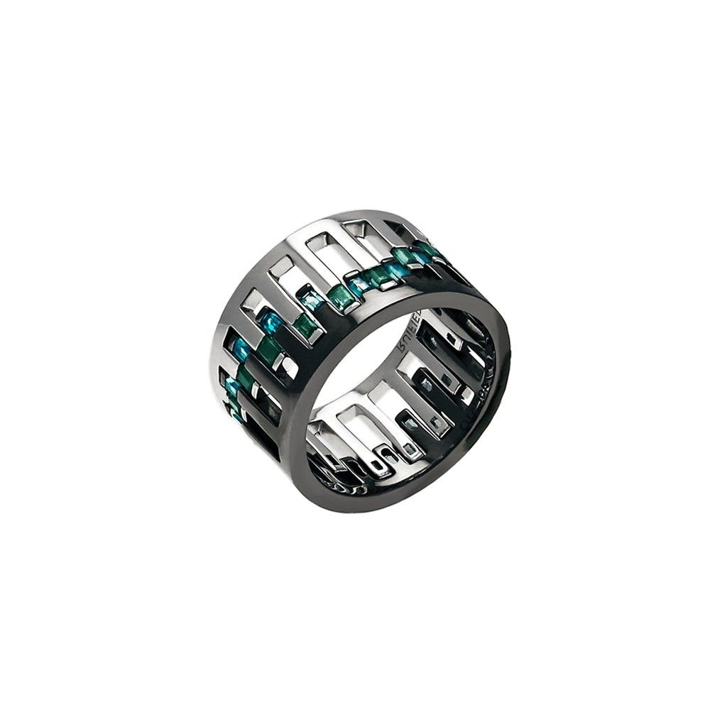 The Celestial Equinox Ring 18K Gold with Tourmalines | RUIFIER Jewelry