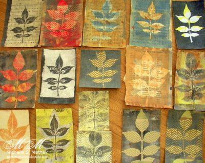 Pigment of My Imagination: Gelatin Leaf Prints