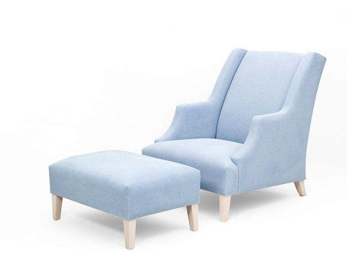 Gepolsterter Sessel aus Stoff mit Fußschemel SEUL BRITISH by ...