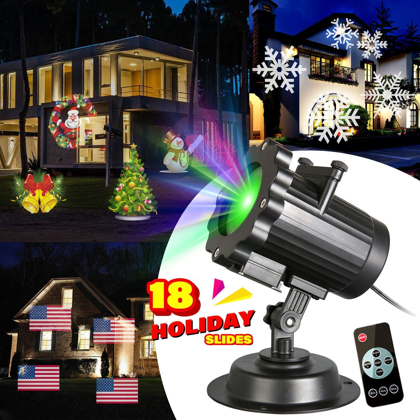 zeonetak christmas projector light 18 patterns interchangeable led halloween christmas lights valentines day birthday wedding party - Led Christmas Projector