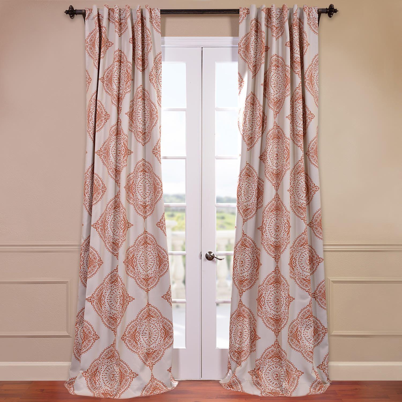 half price drapes henna blackout single curtain panel   lombard  - half price drapes henna blackout single curtain panel