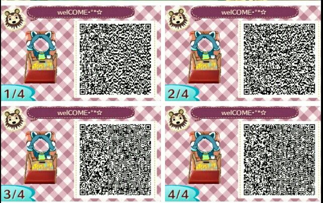 Panneau Photo Temmie Qr Codes For Animal Crossing New Leaf