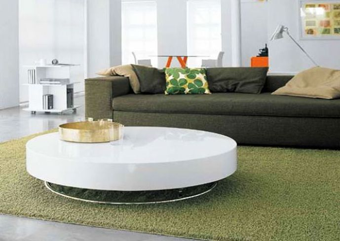 Laminate White Round Coffee Table | Back To Post :What Are The Best White  Coffee