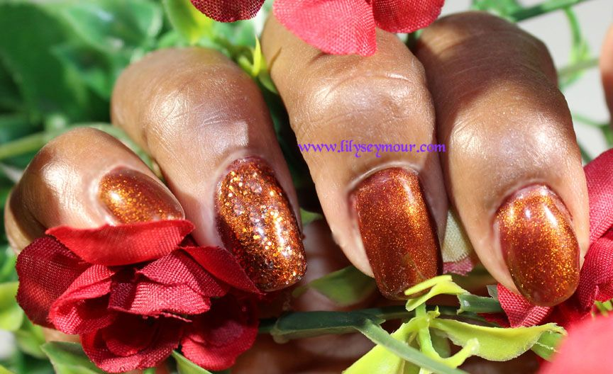 Nails ~ ASP Brown Sugar Gel Polish with Martha Stewart Glitter | Gel ...