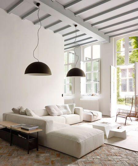 Canap d 39 angle design pour moderniser un salon inspiration neutral sofa ligne roset et home - Voir ma maison en direct ...