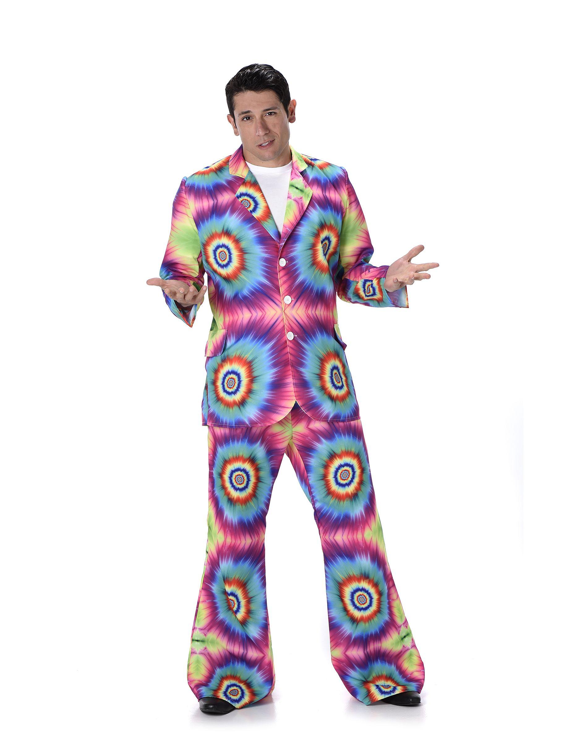 edc63442355d7 70er-Jahre Batik-Anzug Disco Kostüm neonbunt | 60er Jahre - Hippies ...