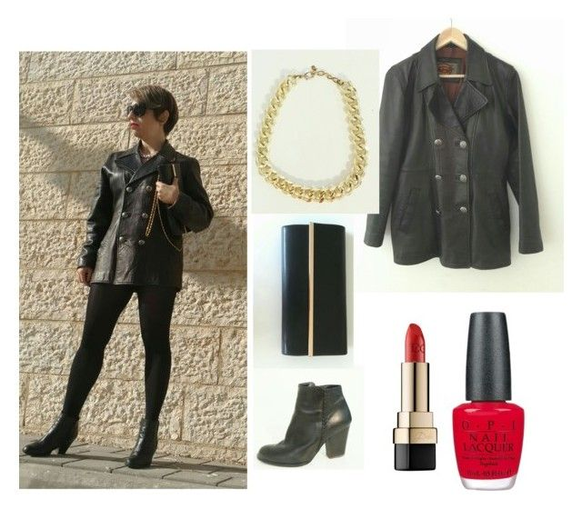 """""""jacket dress outfit"""" by shirlygold on Polyvore featuring Dolce&Gabbana and OPI"""