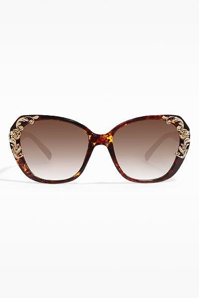 711512cce7  Sicilian Baroque  Designer Inspired Oversized Sunglasses - Brown Speckle -  5447-2