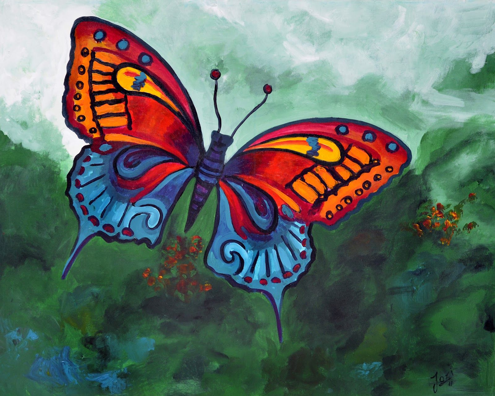 Butterfly Paintings Acrylic acrylic `` butterfly ...