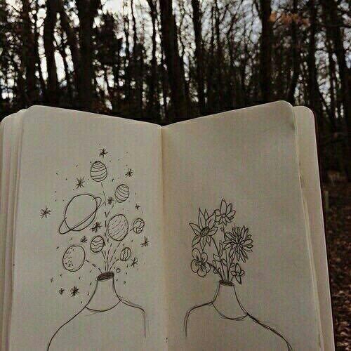Imagem de drawing, art, and flowers                                                                                                                                                                                 Mais