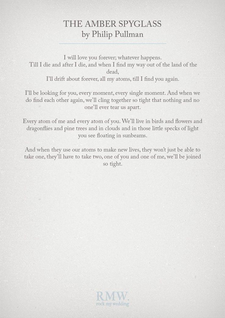 Hochzeitszitate Hochzeitszitate Das Amber Spyglass Von Philip