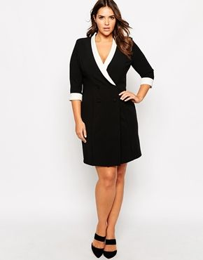 Lipstick Boutique Plus Color Block Tux Dress (Plus Size) | Plus Size ...
