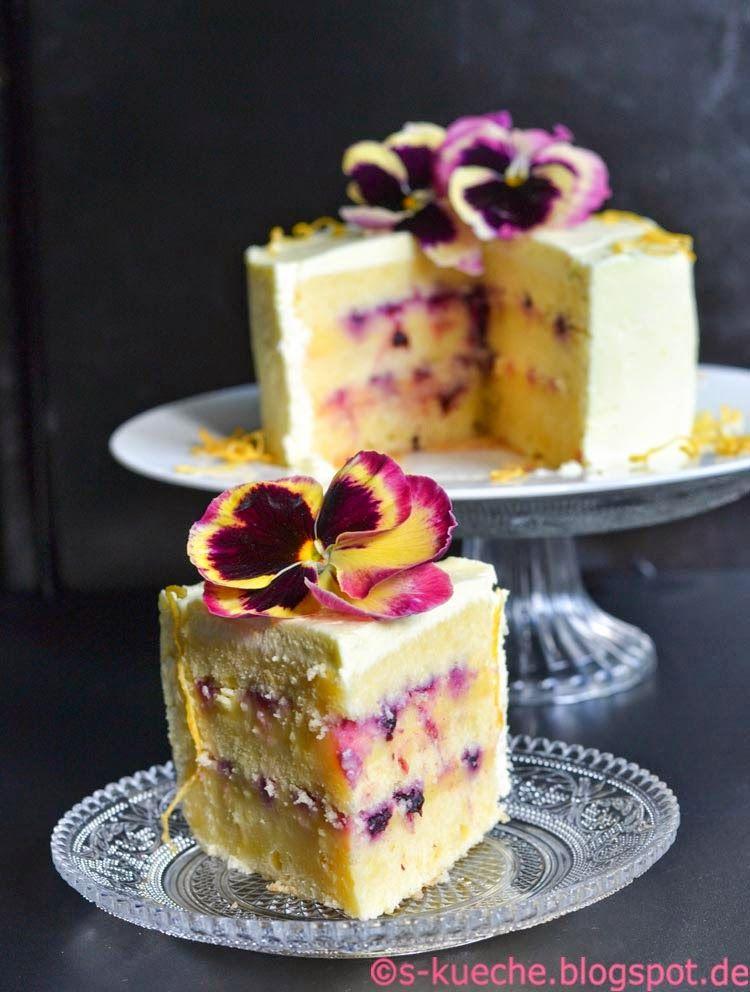 Triple Lemon Cake oder einfach: Zitronencremetorte - s-Küche #creamfrosting