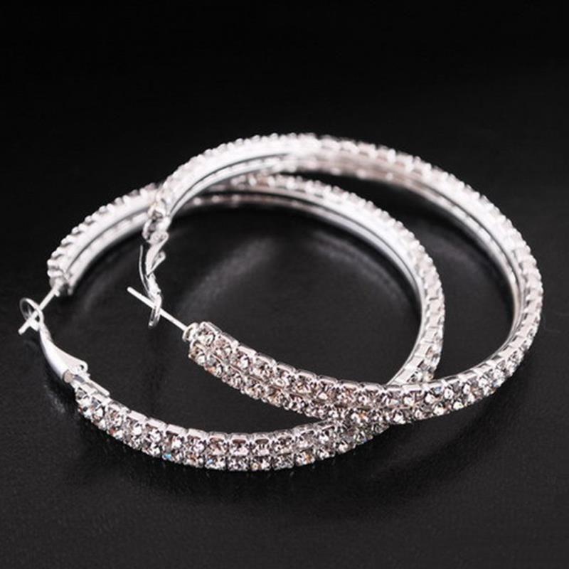 2017 begrenzte Rushed Aretes Orecchini Ohrringe 5 cm Korea Korean Mode Edlen Schmuck Beliebte Doppel Ohr Ring Kreis Ohrringe
