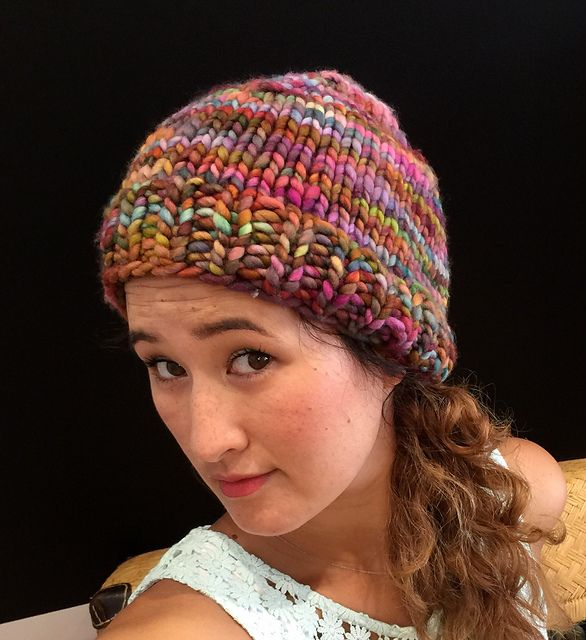 Rasta Hat pattern by Ren Dschaak malabrigo Rasta in Arco Iris | Free ...