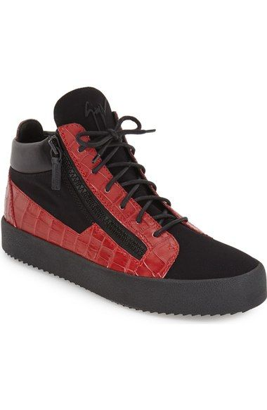 c7a92d7ee7db0 Giuseppe Zanotti Croc Embossed High Top Sneaker (Men) available at  #Nordstrom